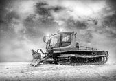 Tractor cleaning snow outdoors — Stockfoto