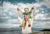 Happiness son with mother — Stock Photo