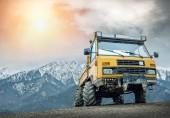 Yellow truck outdoors — Stock Photo