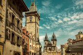 Prague buildings under sunlight — Stock Photo