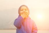 Happy child outdoor. — Stock Photo