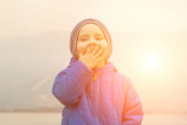 Happiness child outdoor. — Stock Photo