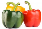 Green,red,yellow peppers — Foto Stock