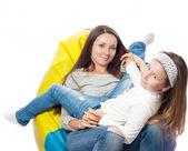 A mulher com a criança — Fotografia Stock
