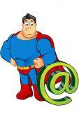 A Cartoon Superhero Character — Stock Vector