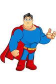 En seriefigur superhjälte — Stockvektor