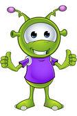 Little Green Alien — Stock Vector
