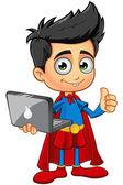 Super Boy Character — Stock Vector