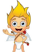 Blonde Cupid Character — Stock Vector