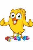 Easter Chick Character — Stok Vektör