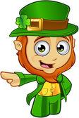 Little Leprechaun Character — Stock Vector