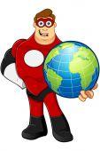 Superhelden in roten Zeichen — Stockvektor