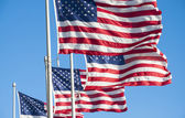 Flags of the United States of America — Stock Photo