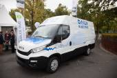 IVECO DAILY Electric Transporter at the 65th IAA Commercial Vehicles 2014 in Hannover, Germany — Zdjęcie stockowe