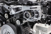 Mercedes Benz motor detail at the 65th IAA Commercial Vehicles 2014 in Hannover, Germany — Stock Photo