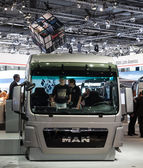MAN truck cabin at the 65th IAA Commercial Vehicles fair 2014 in Hannover, Germany — Stock Photo