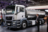 MAN truck TGS 26.400 cistern at the 65th IAA Commercial Vehicles fair 2014 in Hannover, Germany — Stock Photo