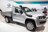 New VW Amarok Pickup truck at the 65th IAA Commercial Vehicles fair 2014 in Hannover, Germany — Stock Photo