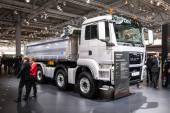 MAN Construction truck TGS at the 65th IAA Commercial Vehicles 2014 in Hannover, Germany — Stock Photo