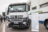 Mercedes Benz Arocs 4451 at the 65th IAA Commercial Vehicles fair 2014 in Hannover, Germany — ストック写真