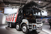 BharatBenz 3143 CM Daimler India Truck at the 65th IAA Commercial Vehicles fair 2014 in Hannover, Germany — Stock Photo