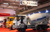 CAMC Chinese Trucks Manufacturer at the 65th IAA Commercial Vehicles fair 2014 in Hannover, Germany — Stock Photo