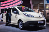 NISSAN e-NV200 Electric Taxi at the 65th IAA Commercial Vehicles 2014 in Hannover — Stock Photo