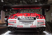 NISSAN GT3 Nismo Race Car at the 65th IAA Commercial Vehicles Fair 2014 in Hannover — Stock Photo