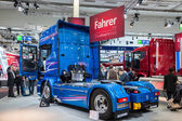 Scania R730 V8 truck at the 65th IAA Commercial Vehicles Fair 2014 in Hannover, Germany — Stock Photo