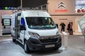 New Citroen Jumper Van at the 65th IAA Commercial Vehicles fair 2014 in Hannover, Germany — Stock Photo