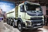 VOLVO FMX dump truck at the 65th IAA Commercial Vehicles Fair 2014 in Hannover, Germany — Stock Photo