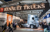 RENAULT TRUCKS stand at the 65th IAA Commercial Vehicles Fair 2014 in Hannover, Germany — Stock Photo