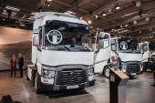 RENAULT RANGE T truck at the 65th IAA Commercial Vehicles Fair 2014 in Hannover, Germany — Stock Photo