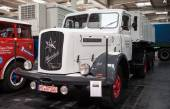 Historic Henschel truck HS 140 AS from 1955 at the 65th IAA Commercial Vehicles Fair 2014 in Hannover, Germany — Stock Photo