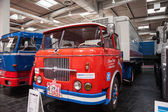 Historic SKODA truck S 706 RT from 1967 at the 65th IAA Commercial Vehicles Fair 2014 in Hannover, Germany — Stock Photo