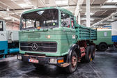 Historic  Mercedes-Benz LKP 2232 at the 65th IAA Commercial Vehicles Fair 2014 in Hannover, Germany — Stock Photo
