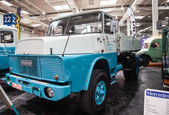 Historic HANOMAG HENSCHEL truck H 161 from 1971 at the 65th IAA Commercial Vehicles Fair 2014 in Hannover, Germany — Stock Photo