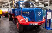 Historic HANOMAG HENSCHEL 140 truck  from 1960 at the 65th IAA Commercial Vehicles Fair 2014 in Hannover, Germany — Stock Photo