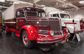 Historic KRUPP TITAN SWL 80 truck from 1952 at the 65th IAA Commercial Vehicles Fair 2014 in Hannover, Germany — Stock Photo