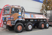 MAN TGS rally race truck at the 65th IAA Commercial Vehicles Fair 2014 in Hannover, Germany — Stock Photo