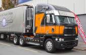 Freightliner Argosy semi-trailer truck at the 65th IAA Commercial Vehicles Fair 2014 in Hannover, Germany — Photo