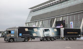 ZF Innovation Truck at the 65th IAA Commercial Vehicles Fair 2014 in Hannover, Germany — Stock Photo