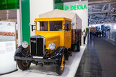 Historic German truck Bussing NAG from 1931 at the 65th IAA Commercial Vehicles Fair 2014 in Hannover, Germany — Stock Photo