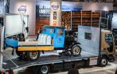 Historic VOLVO truck from 1929 at the 65th IAA Commercial Vehicles Fair 2014 in Hannover, Germany — Stock Photo