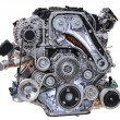 Modern turbo diesel truck engine isolated on white background — Stock Photo #54636357