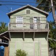 Green wooden house in Key West, Florida, USA — Stock Photo #55542601