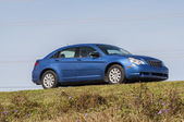 Blue Chrysler Sebring sedan from 2008 in Florida, USA — Stok fotoğraf
