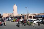 MARRAKESH, MOROCCO - NOV 21: Mosque in the medina quarter of Marrakesh. November 21, 2008 in Marrakesh, Morocco — Stock Photo