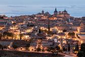 Toledo at dusk, Spain — Stock Photo