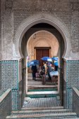FEZ, MOROCCO - NOV 30: Gate in the medina of moroccan city Fez. November 30, 2008 in Fez, Morocco, Africa — Stock Photo
